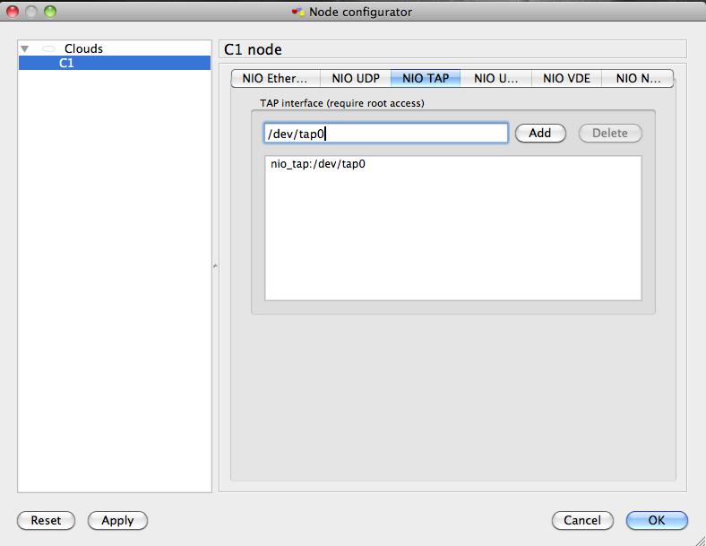 Соединение GNS3 с loopback интерфейсом Mac OS  — Советы по